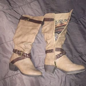 Shoes - Brown knee high boots